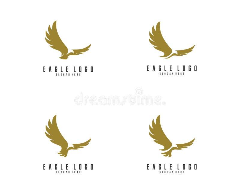 套老鹰商标设计传染媒介,老鹰象商标 免版税库存照片
