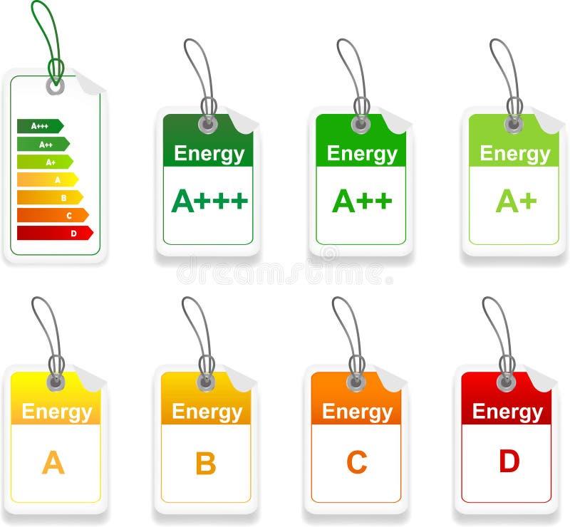 套能量类标记 库存例证