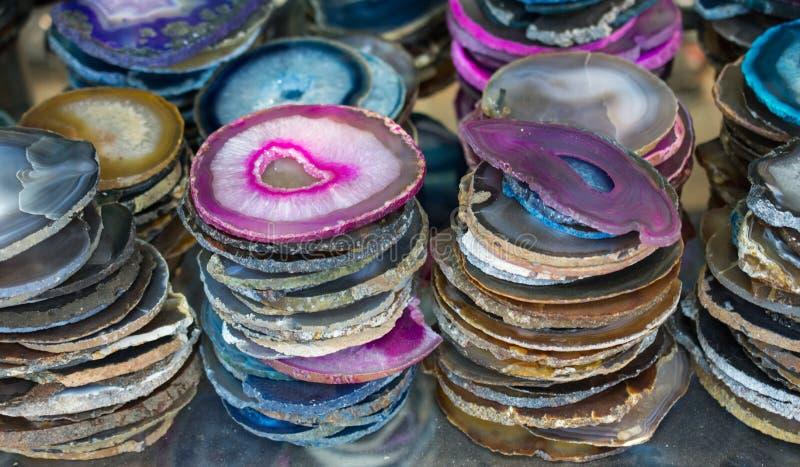 套自然矿物宝石 库存图片