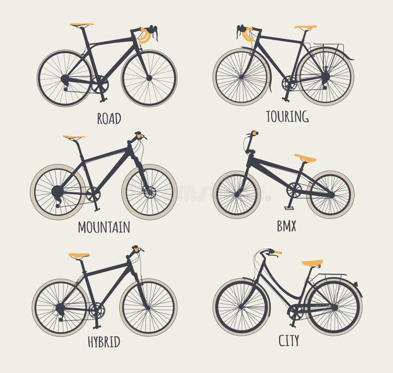 套自行车 向量例证