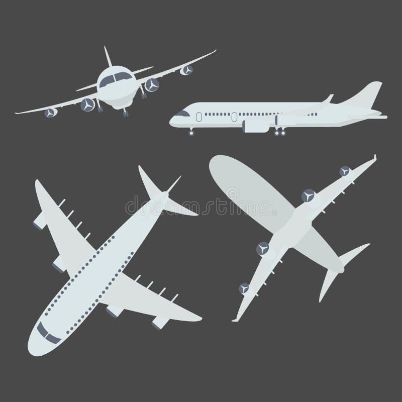 套航空器飞机 向量例证