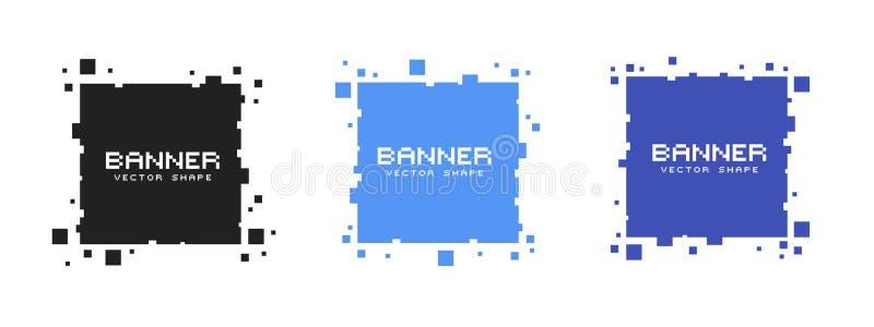 套色的方形的映象点横幅 传染媒介空白框架准备好您的文本 向量例证