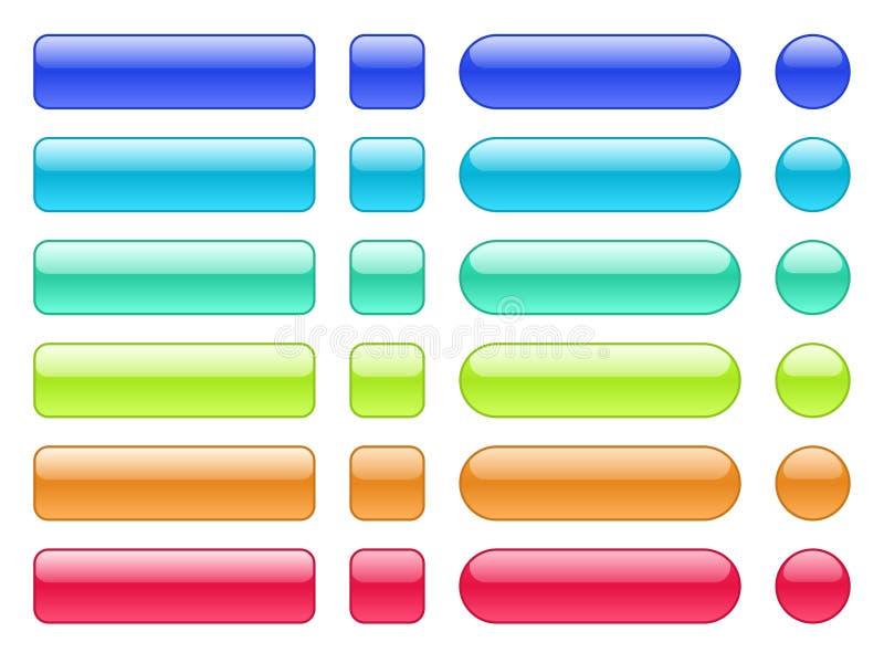 套色的网背景按钮 皇族释放例证
