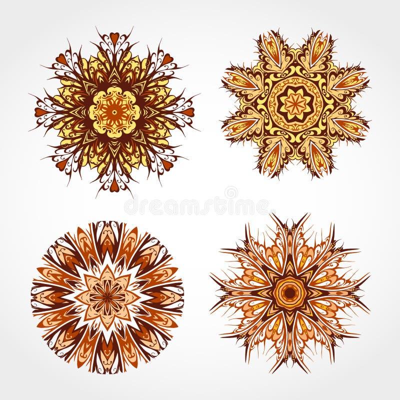 Download 套色的装饰圆的装饰品 向量 向量例证. 插画 包括有 坛场, 来回, 抽象, 查出, 框架, 艺术, 金银细丝工 - 62531326