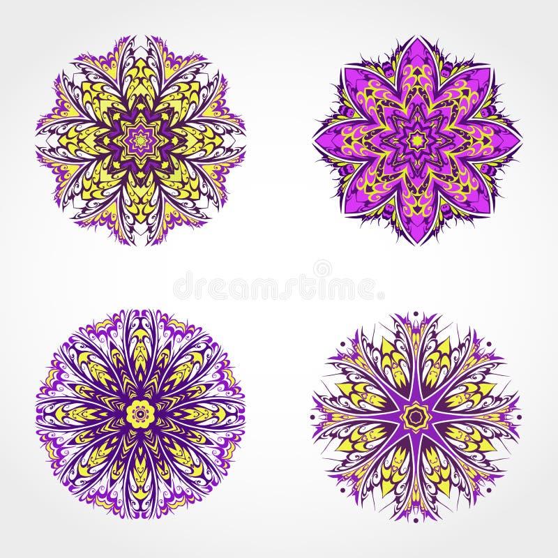 Download 套色的装饰圆的装饰品 向量 向量例证. 插画 包括有 样式, 雪花, 要素, 范例, 对称, 金银细丝工 - 62531979