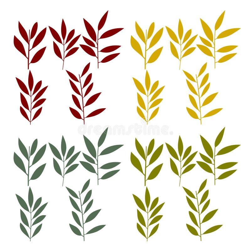 套芦苇或麦子 向量例证