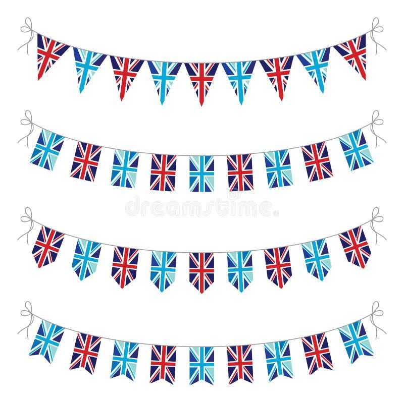 套英国旗布 向量例证