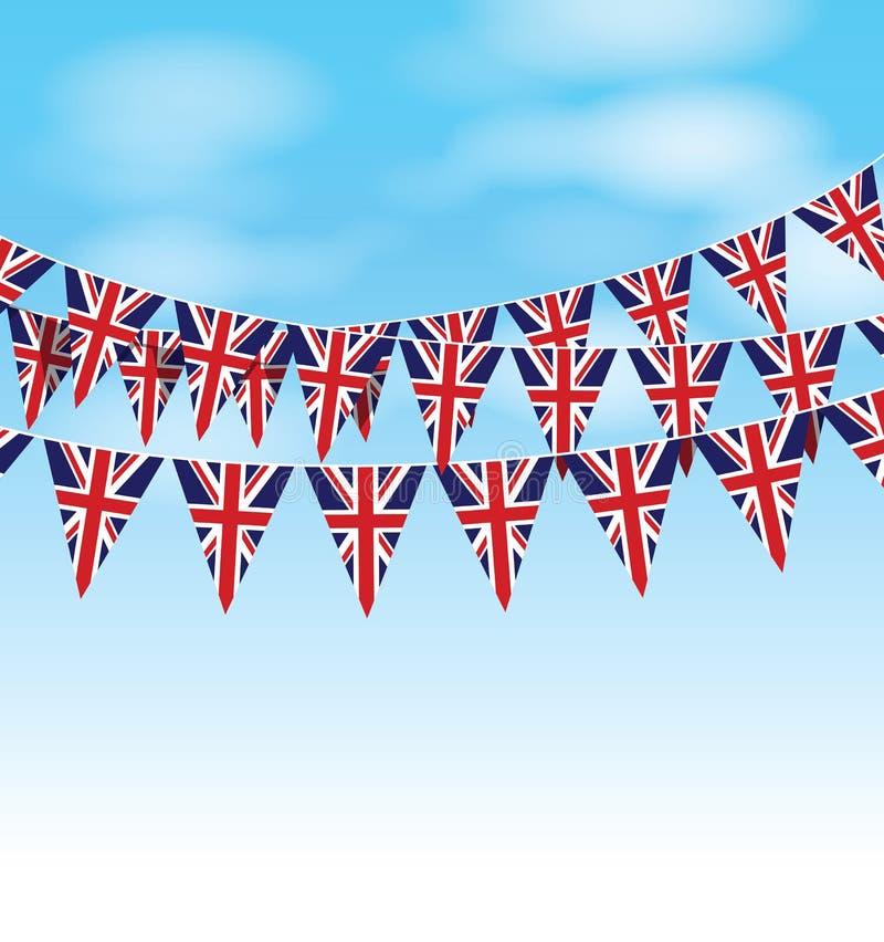 套英国旗布 皇族释放例证