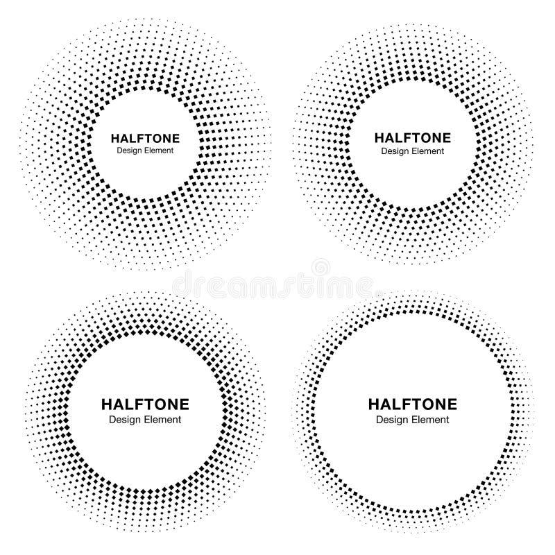 套药物治疗的黑抽象圈子框架中间影调小点商标设计元素,化妆用品 库存例证