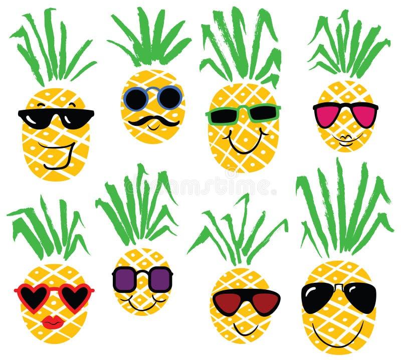 套菠萝喜欢人 微笑的菠萝字符图片