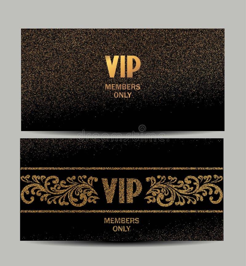 套葡萄酒拟订与花卉设计元素的金和银卡片 向量例证