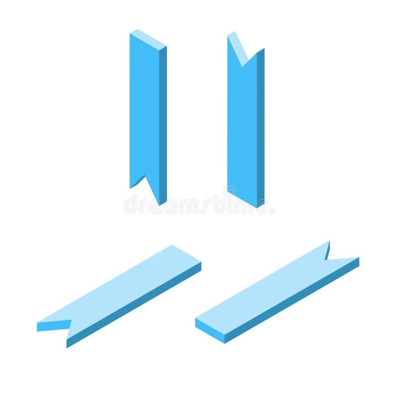 套蓝色等量尖,最小的样式,方向概念,传染媒介 向量例证