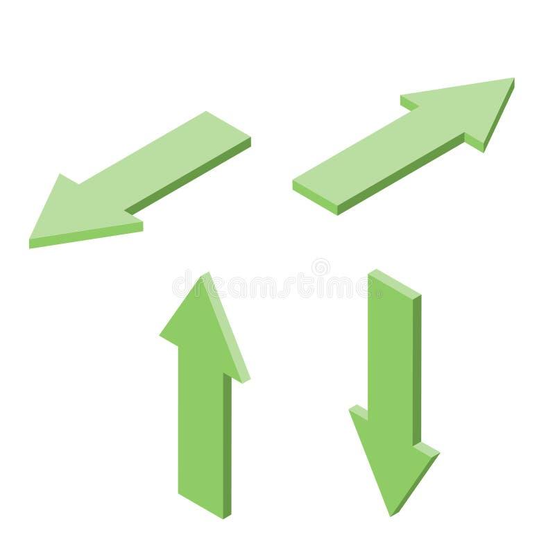 套蓝色等量箭头,最小的样式,方向概念,传染媒介 皇族释放例证