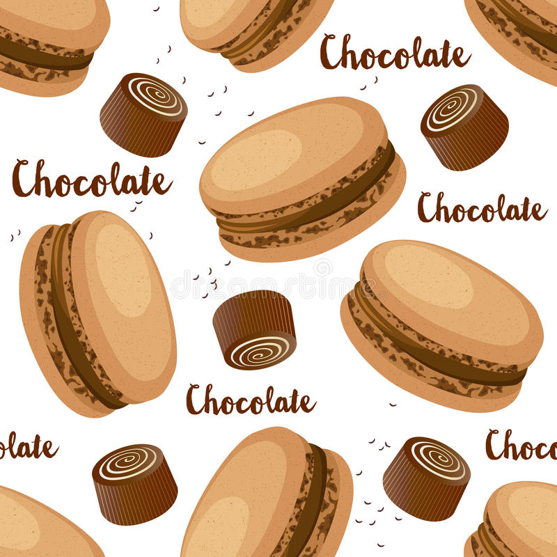 套蛋白杏仁饼干 向量例证