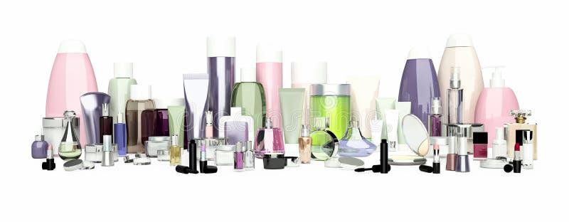 套装饰化妆用品 粉末, concealer,眼影刷子, 免版税库存照片