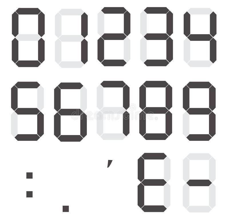 套计算器数字式数字 皇族释放例证