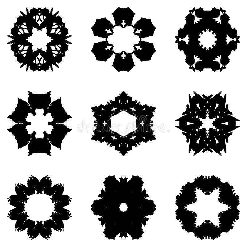 套设计的九个手凹道元素 皇族释放例证