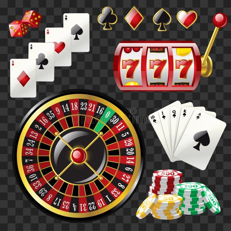 套赌博娱乐场反对-现代传染媒介现实剪贴美术 皇族释放例证