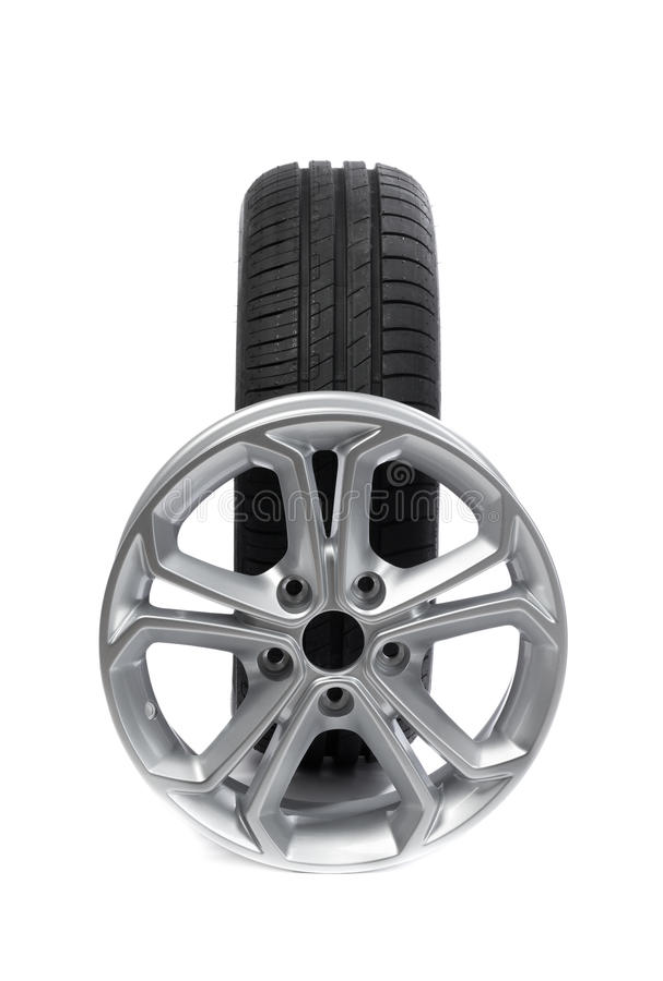 套轮子和轮胎汽车的 图库摄影