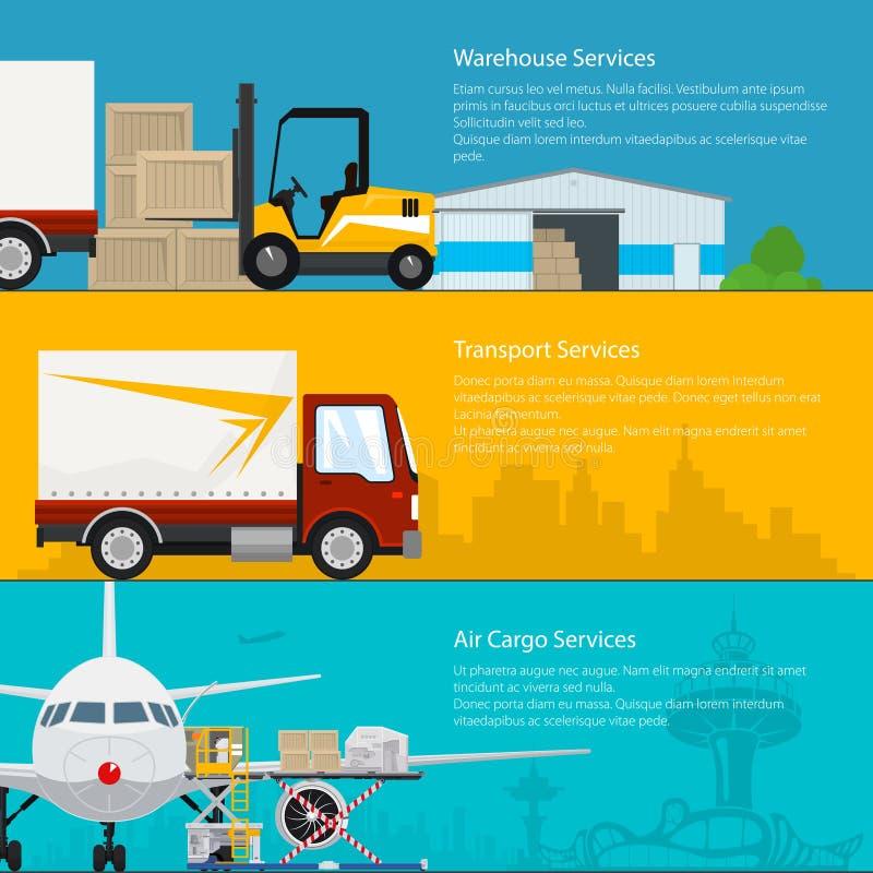 套运输为横幅服务 库存例证