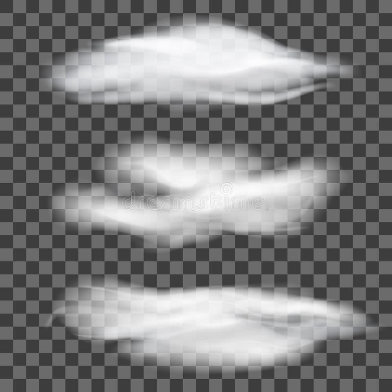 套透明不同的云彩 也corel凹道例证向量 向量例证