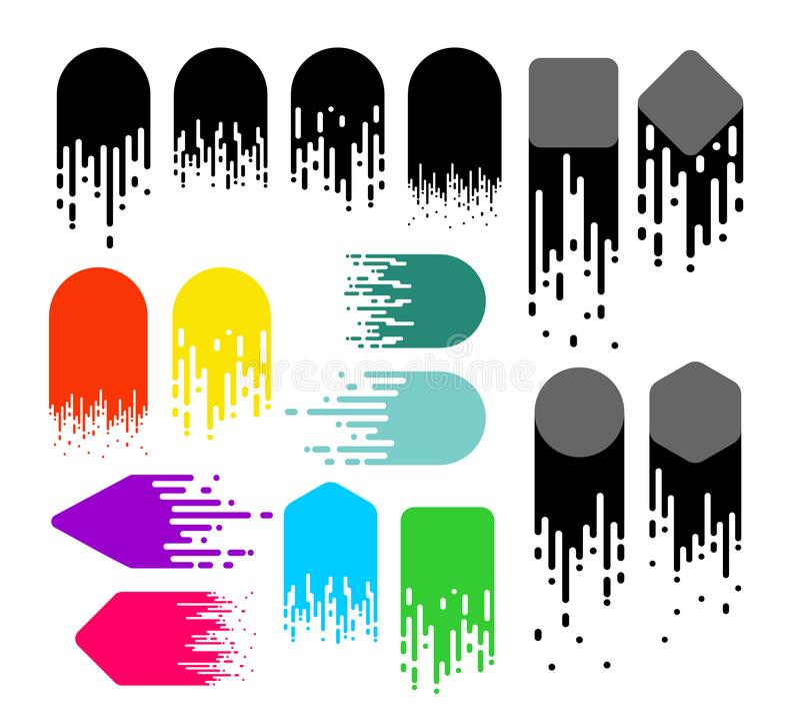 套速度线 黑白和颜色行动作用 梯度背景设计 也corel凹道例证向量 隔绝在白色ba 皇族释放例证