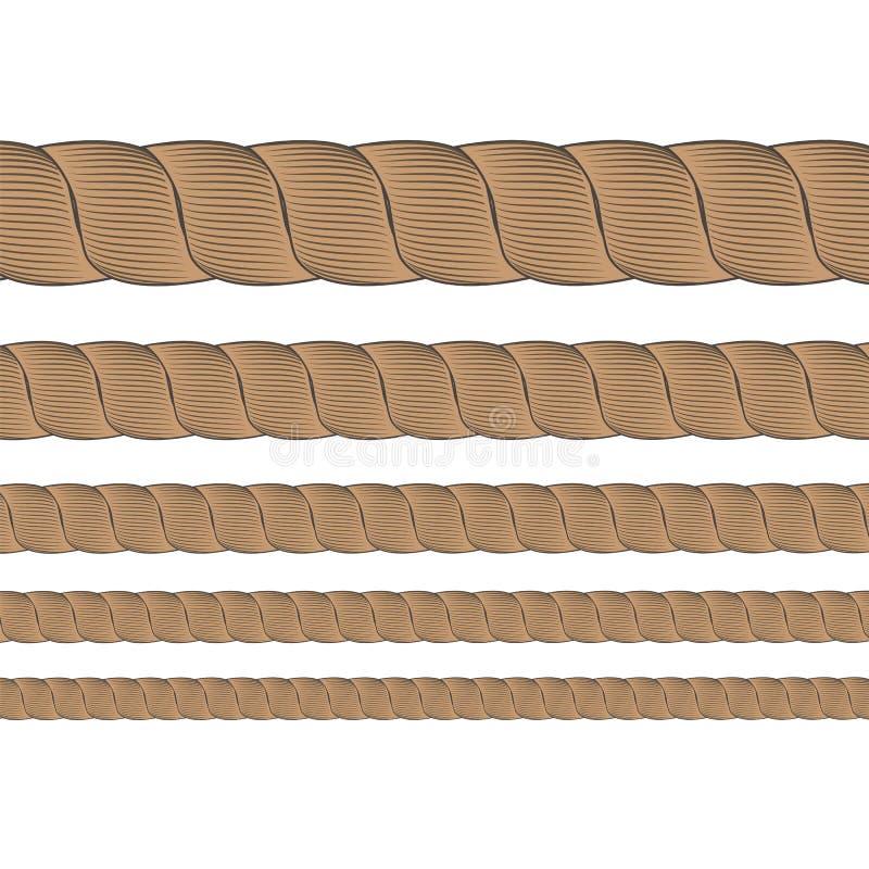 套金属缆绳 向量例证