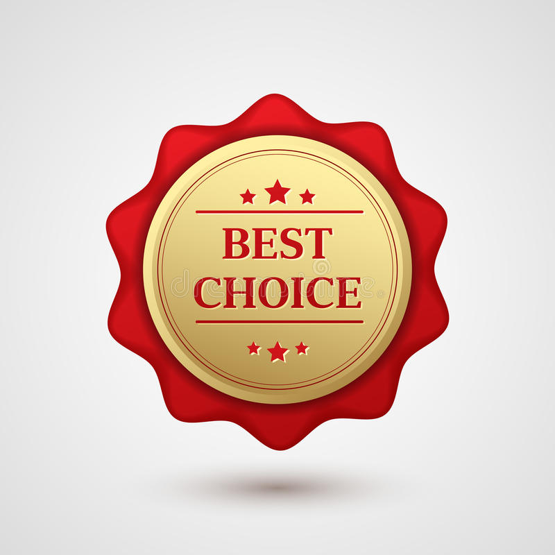 套金红色最佳的挑选徽章 向量例证