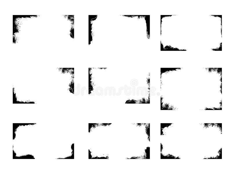 套难看的东西框架,背景覆盖物 皇族释放例证
