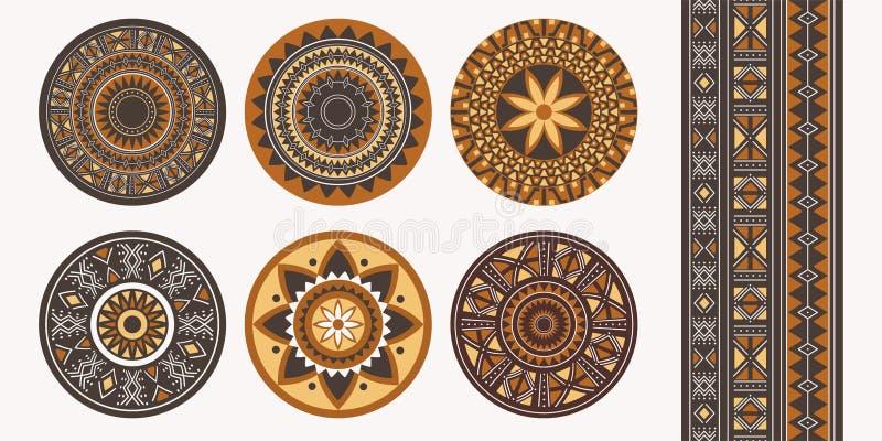 套非洲装饰元素 部族印刷品