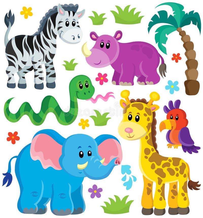 套非洲动物3 向量例证