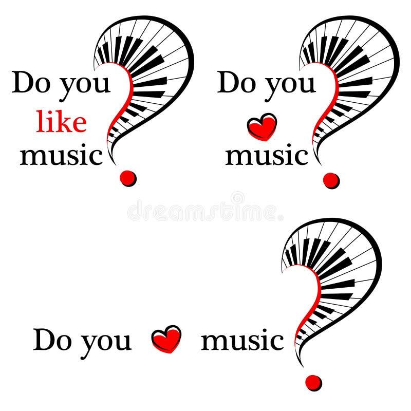套音乐的标志 向量 库存例证