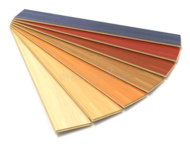 套颜色木被碾压的建筑板条 皇族释放例证