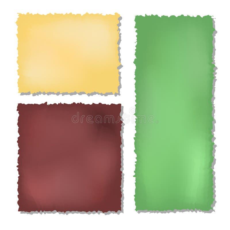 套颜色难看的东西裱糊背景 库存例证