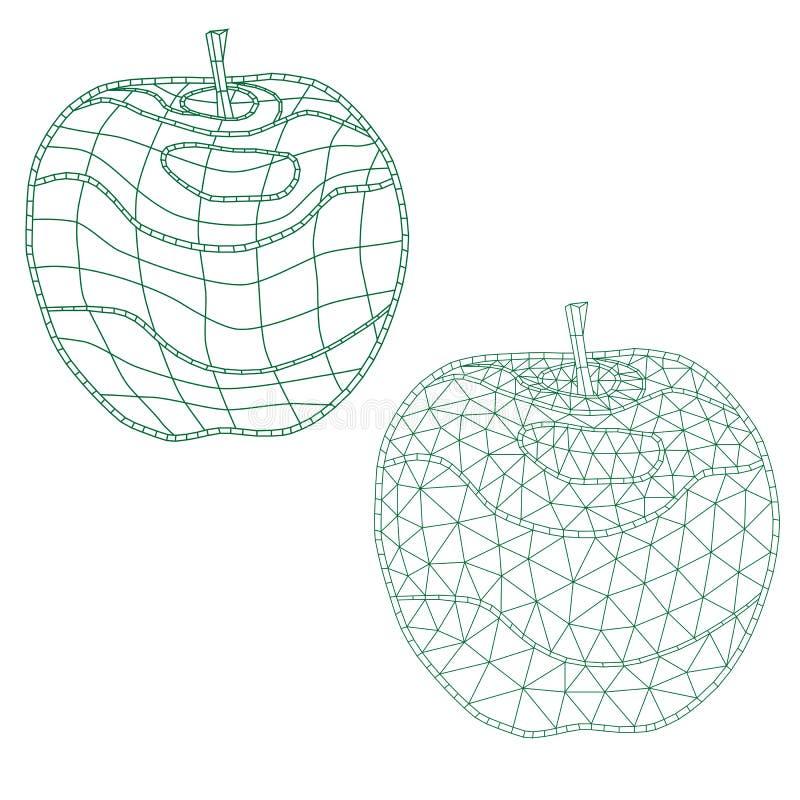 套马赛克苹果 对上色和设计 容易修改 皇族释放例证
