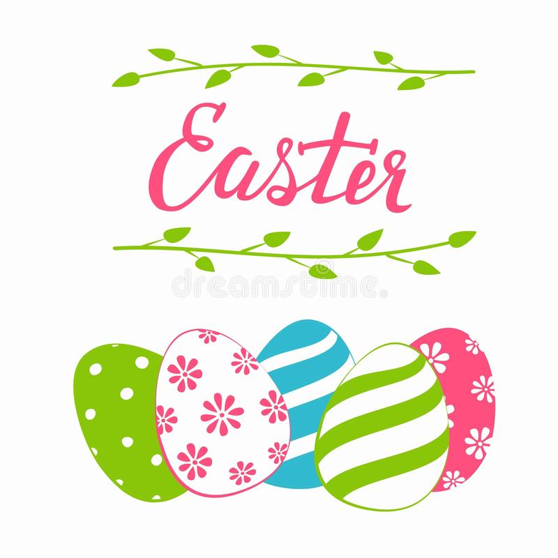 套鸡蛋,复活节假日装饰,隔绝在白色设计元素 皇族释放例证