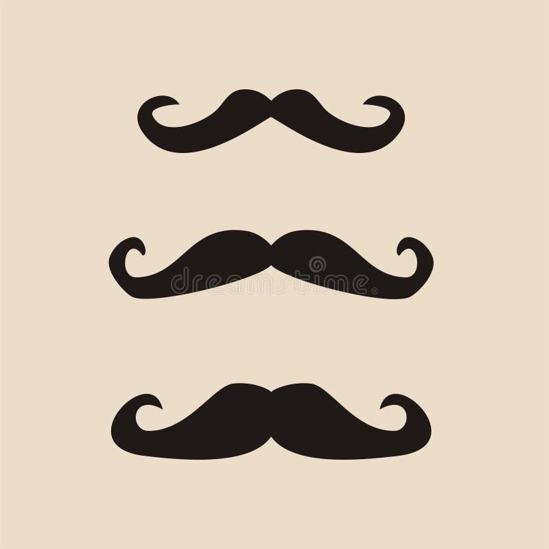 套传染媒介绅士髭 向量例证