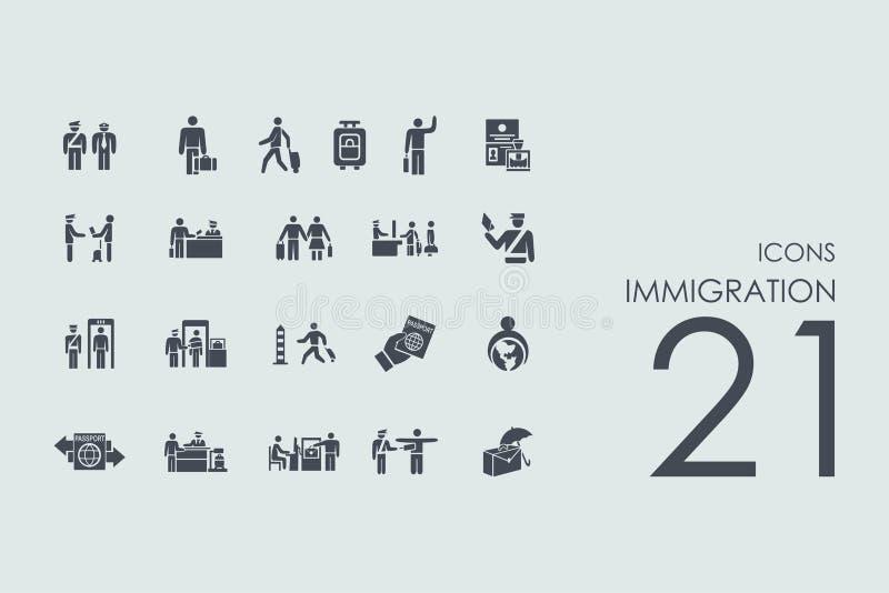 套移民象 向量例证