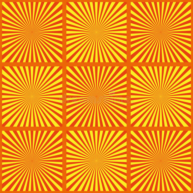 套黄色光芒 也corel凹道例证向量 背景减速火箭的旭日形首饰 难看的东西设计元素 黑白背景 有益于pict 库存例证