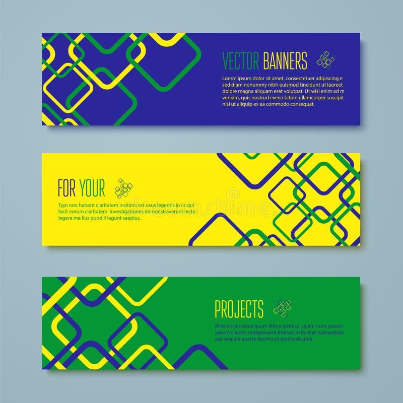 套巴西概念颜色横幅 皇族释放例证