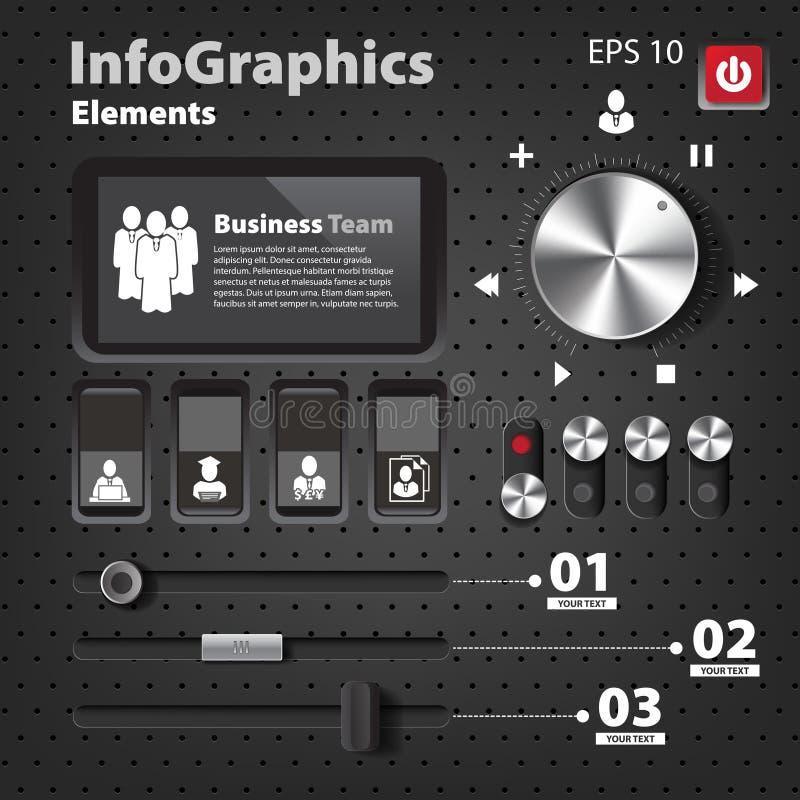 套infographics的元素在UI样式 皇族释放例证