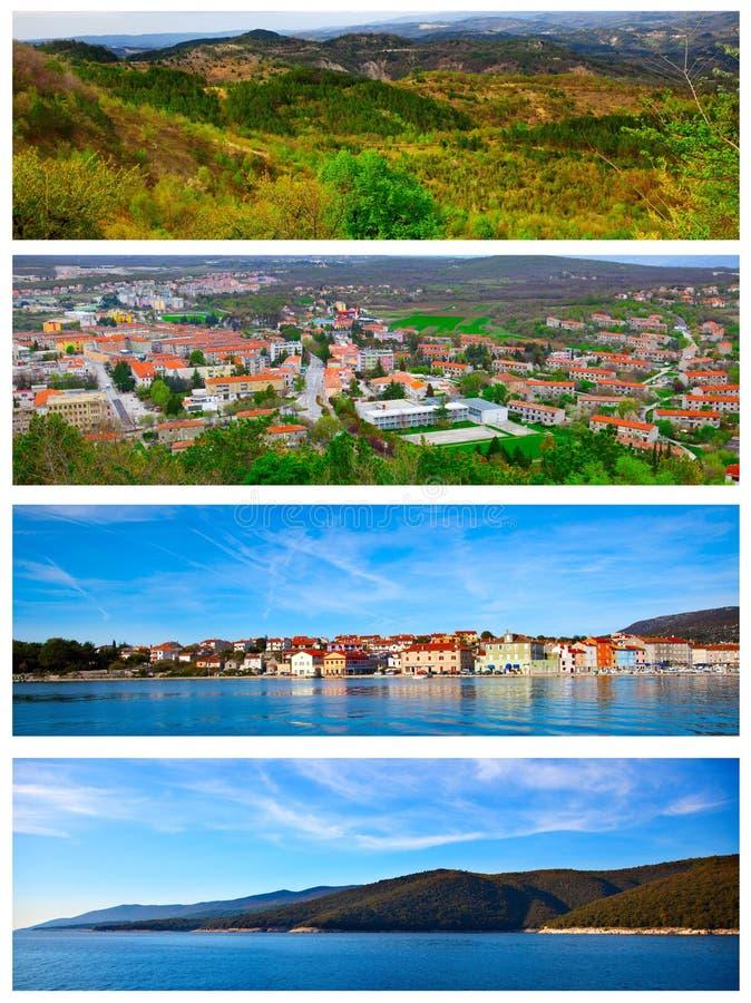 套Istrian零件的照片 免版税图库摄影