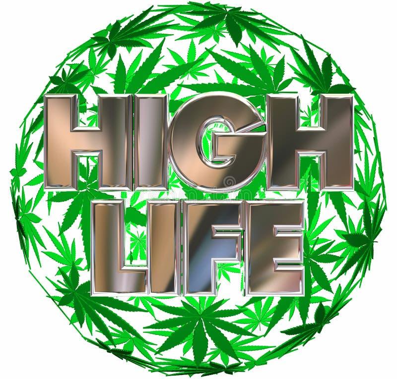 奢侈生活大麻罐叶子球形 库存例证