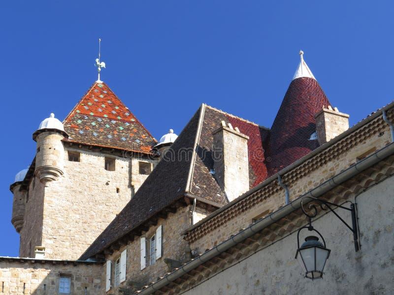 奥伯纳城堡, Ardeche,普罗旺斯,法国 免版税库存照片