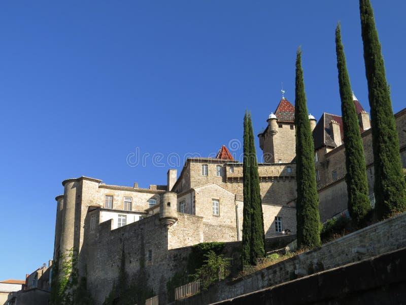 奥伯纳城堡, Ardeche,普罗旺斯,法国 免版税库存图片