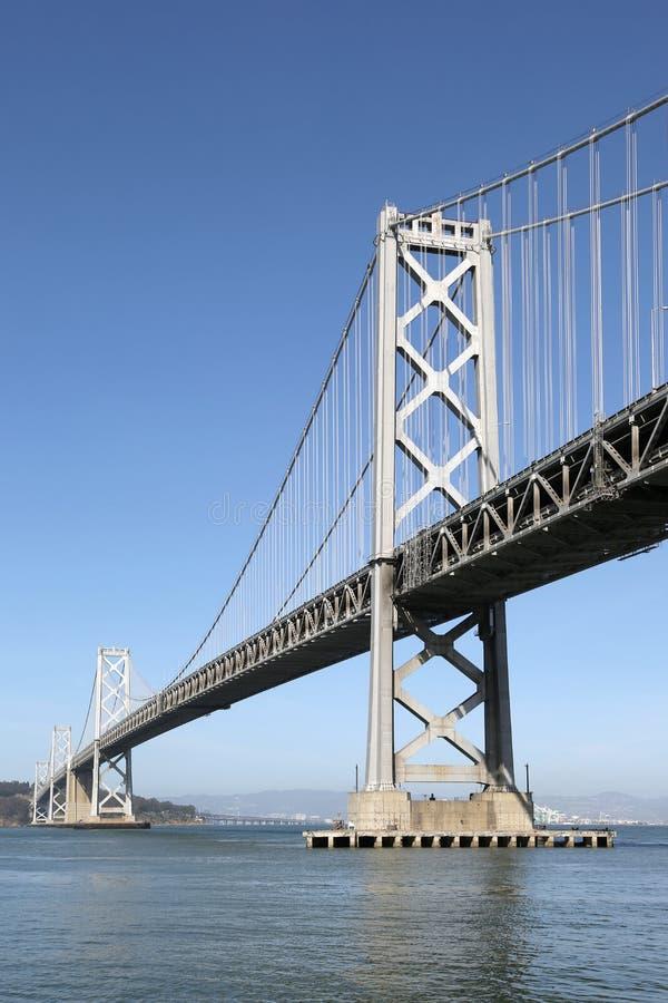 奥克兰海湾桥梁在旧金山,加利福尼亚 免版税图库摄影