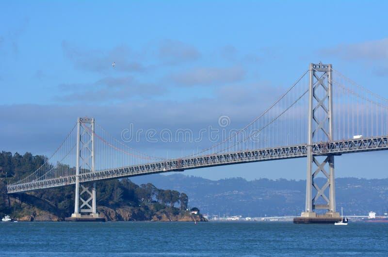 奥克兰海湾桥梁旧金山-加利福尼亚 免版税库存图片