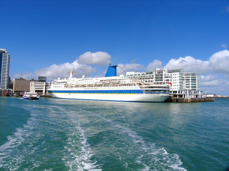 奥克兰港口 免版税图库摄影