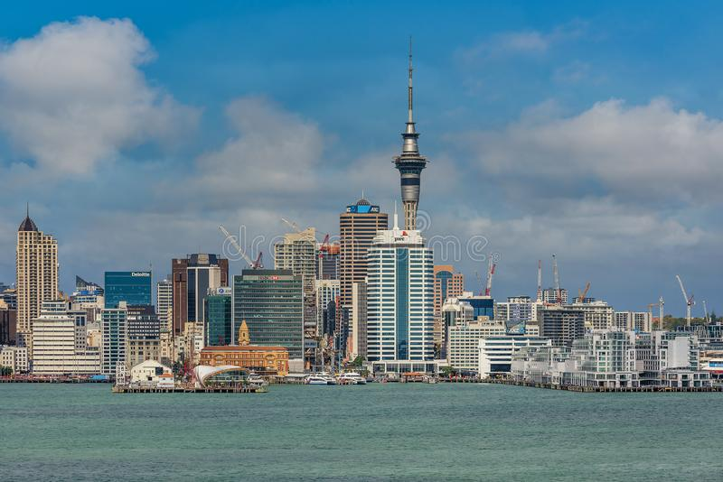 奥克兰,新西兰美好的都市风景  库存图片