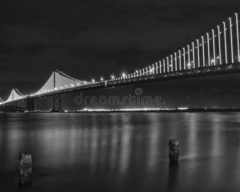 奥克兰/旧金山湾桥梁 库存图片
